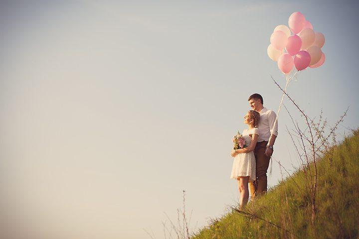 Love-story с шарами: Ростислав + Юлия