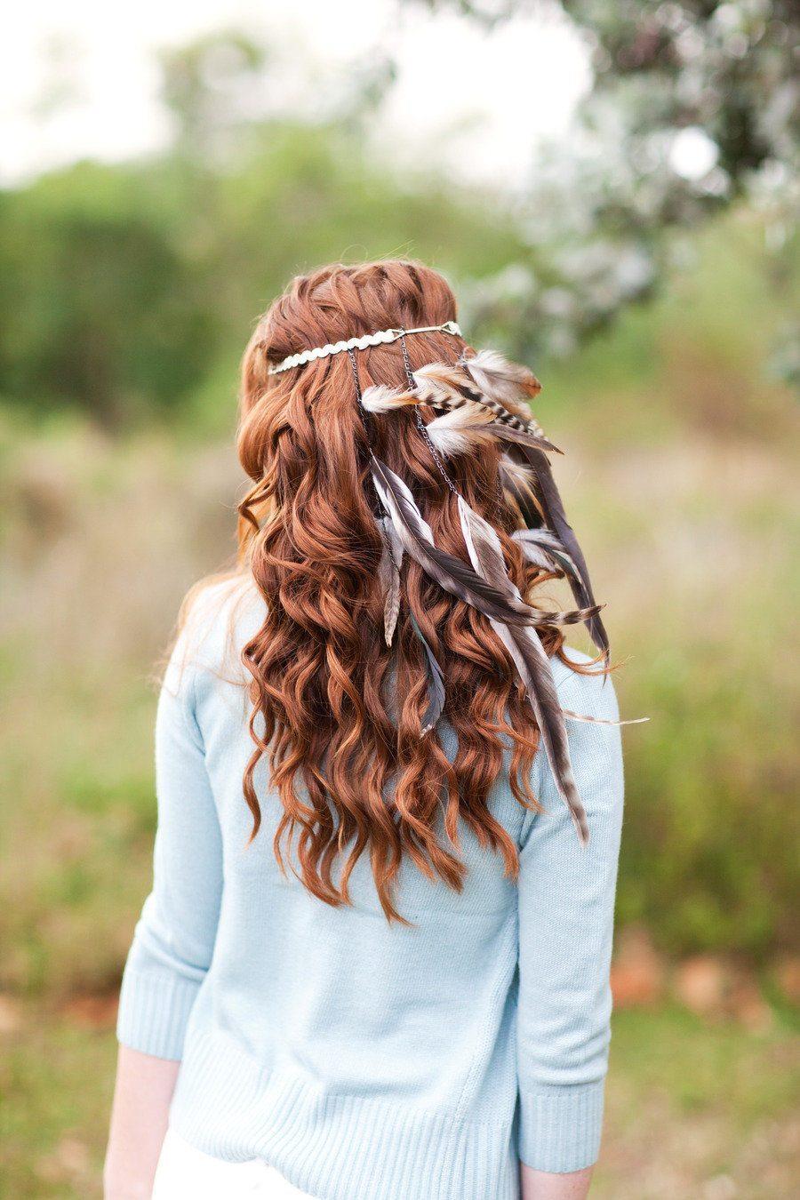 [3] Аксессуары невесты - украшение в волосы с перьями