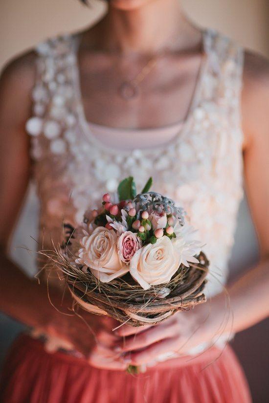 [3] Букет невесты на каркасе из веток