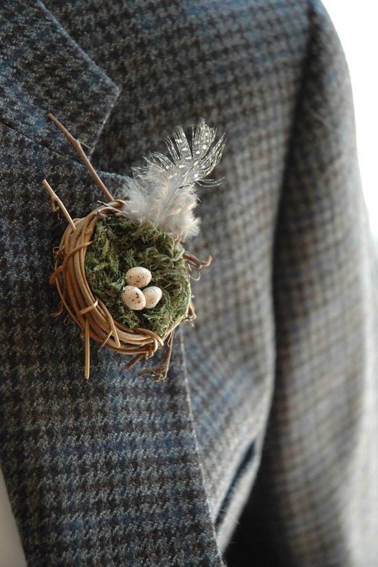 [3] Бутоньерка с гнездышком