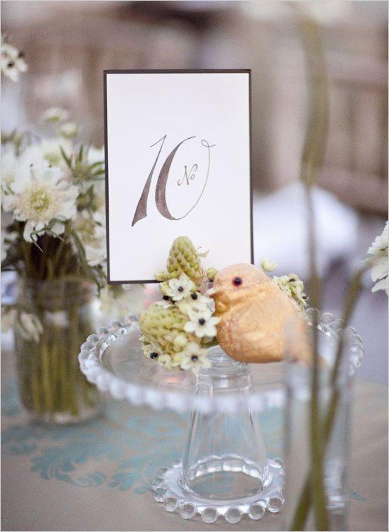 [5] Декор свадебного ужина - птички
