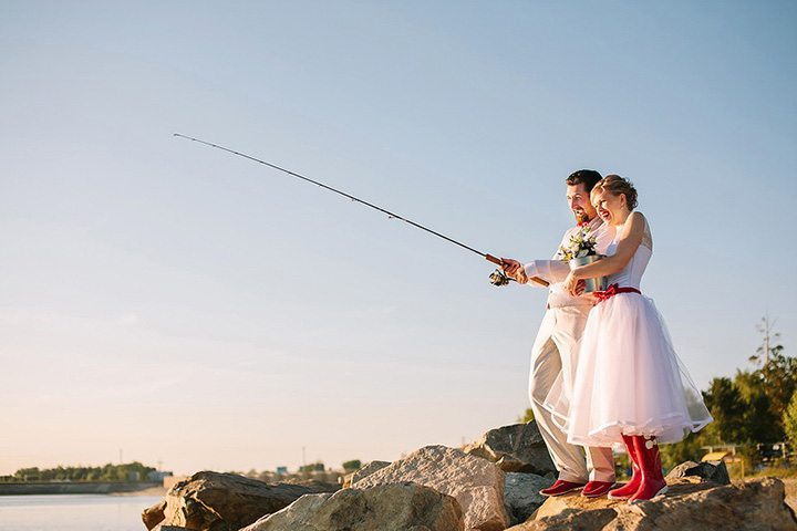 Ты рыбачка, я рыбак: свадьба Ани и Дениса
