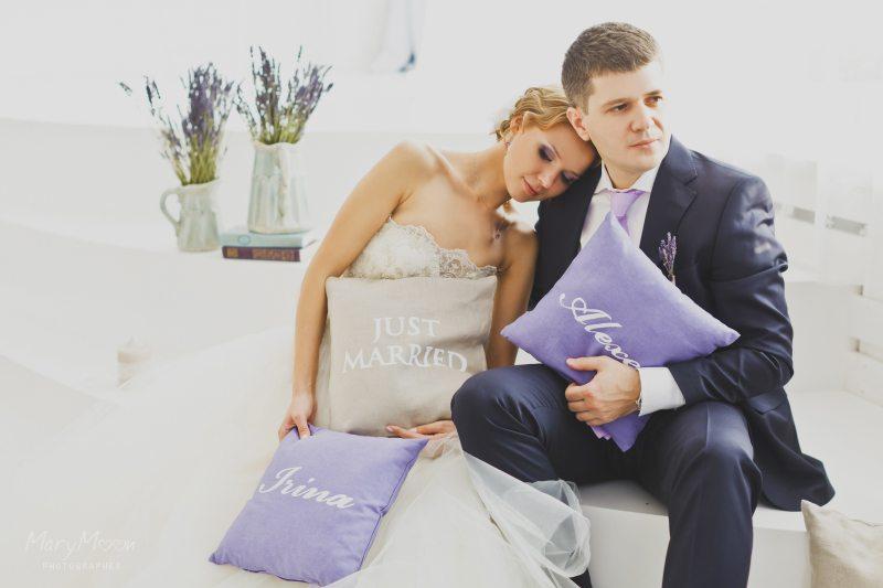Лавандовая свадебная фотосессия Ирины и Алексея