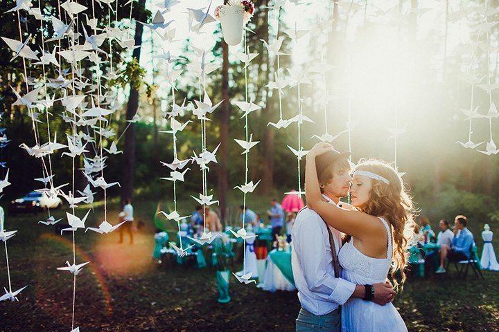 Красивые гирлянды своими руками для свадьбы 94