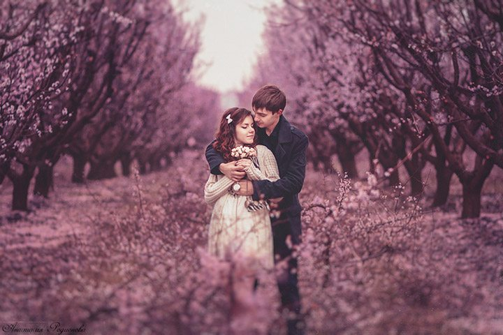 Цветущий сад: love-story Юли и Жени