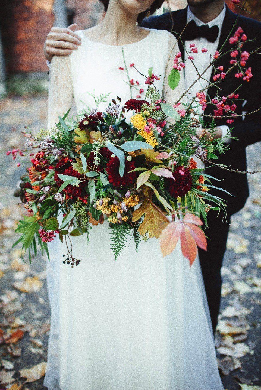 Времена года в цветах букета невесты