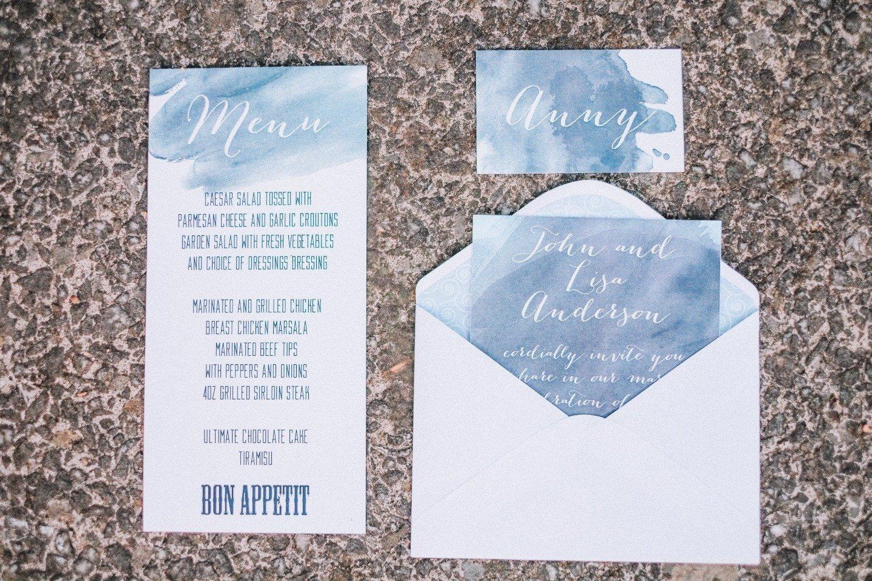 В тренде: акварельные пригласительные на свадьбу