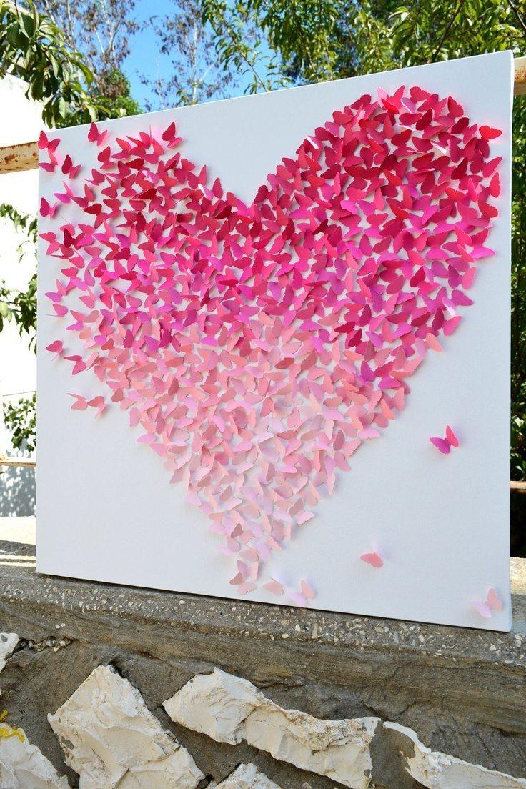Картина из сердечек своими руками ServiceYard-уют вашего 35