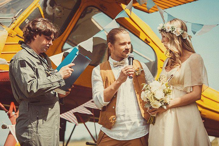 Полёт в любви и наяву: свадьба Александры и Сергея