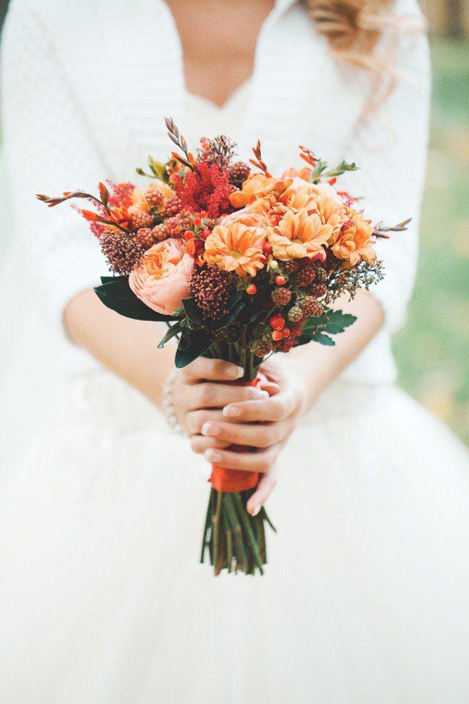 Осенние букеты невесты