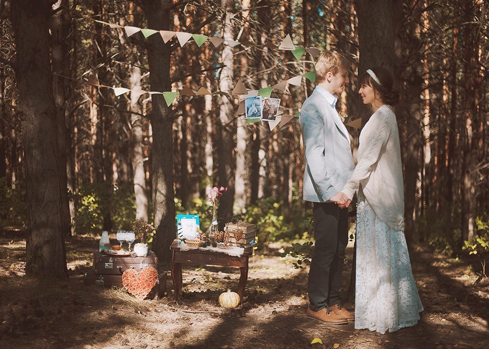 Лесной уют: свадьба Александра и Дарьи