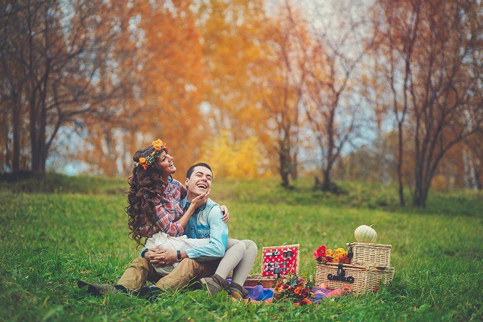 осенние фотосессии в стиле пикник классическом
