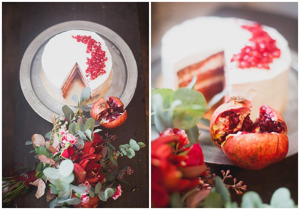 Благородный гранат: зимняя свадьба Алисы и Александра