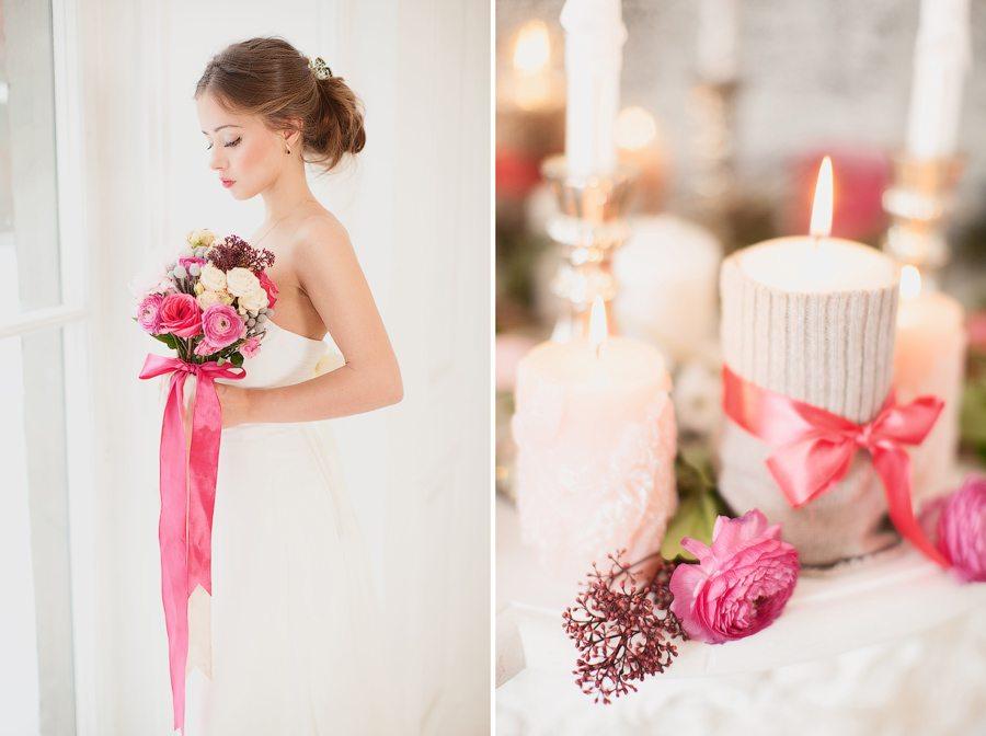 Зимняя элегантность: свадьба Юлии и Дениса