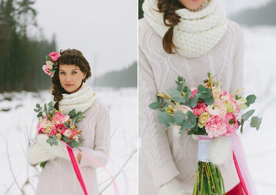 Нежность зимнего образа: невеста