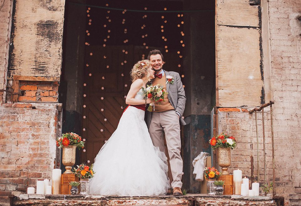 Осень в городе: свадьба Нины и Никиты