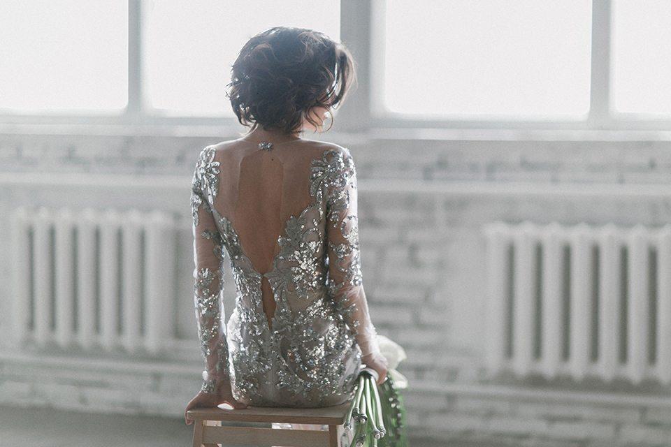 Серебристая красота: стилизованная съемка