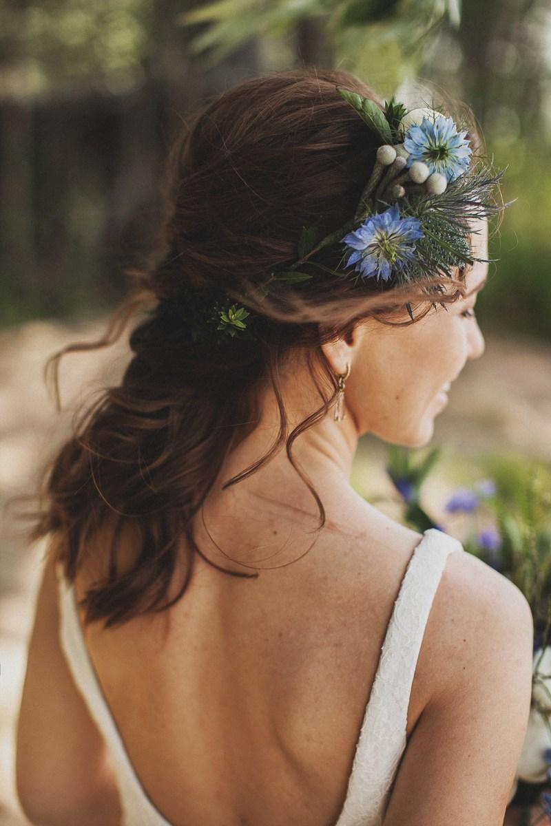 Цветы в голову невесты фото