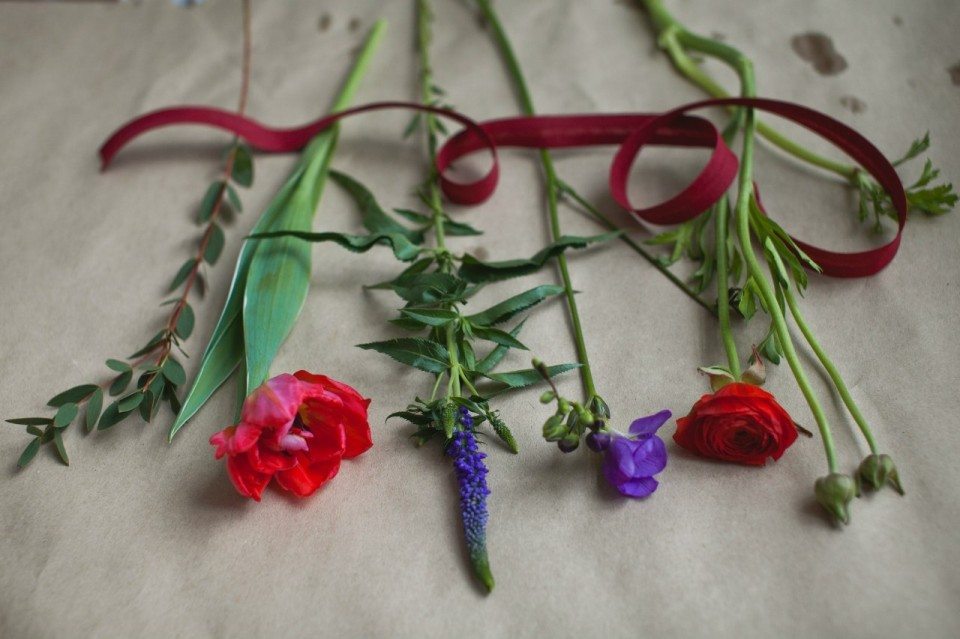 Цветочная кухня: красное пламя тюльпанов