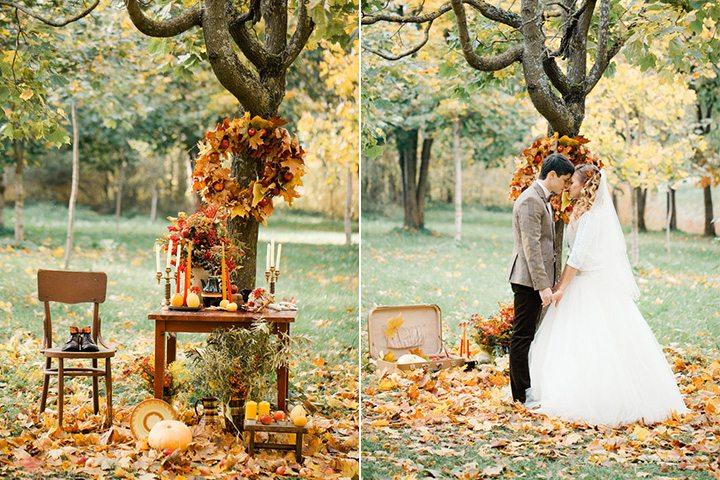 Тепло осеннего солнца: свадьба Лизы и Саши