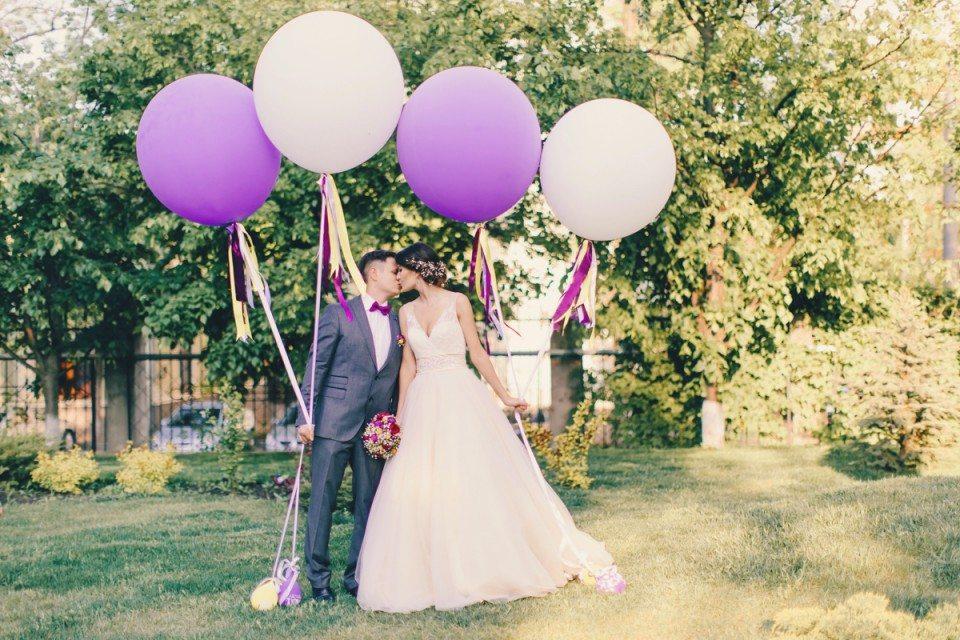 Яркая любовь: свадьба Алины и Сергея