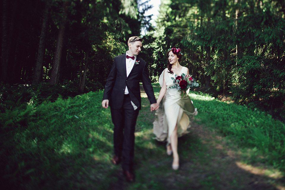 Благородство цвета: свадьба Дениса и Марины