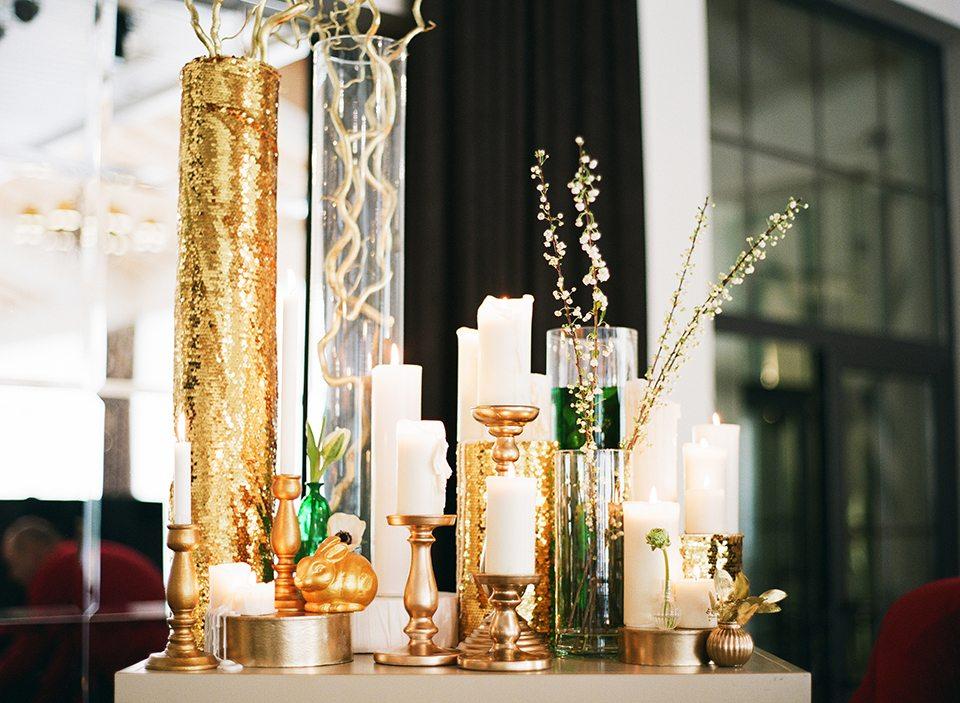 Золото и изумруд: весенняя свадьба Ани и Вани