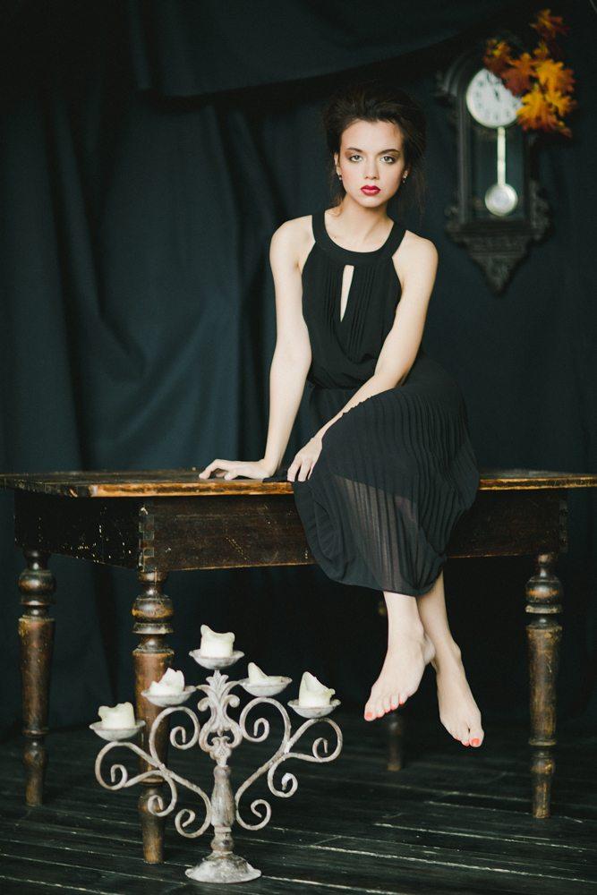 Магия черного: стилизованная съемка