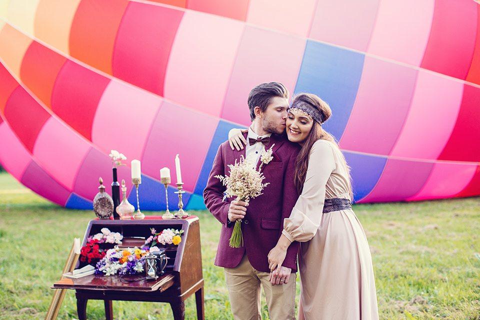 Воздушный шар любви: свадьба Марии и Александра