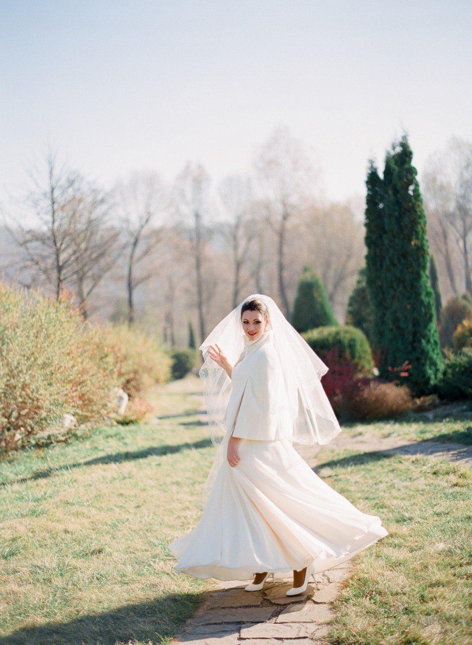 Поздняя осень: стилизованная свадебная съемка