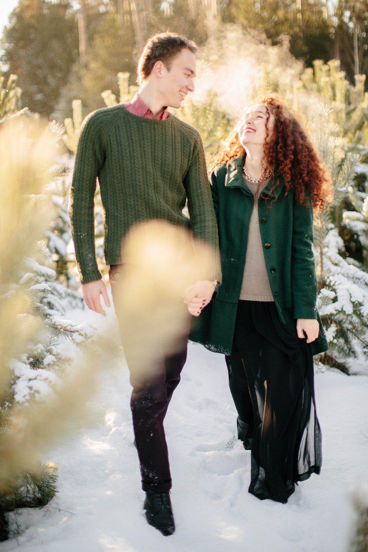 Зимняя снежная история: годовщина Ольги и Даниила