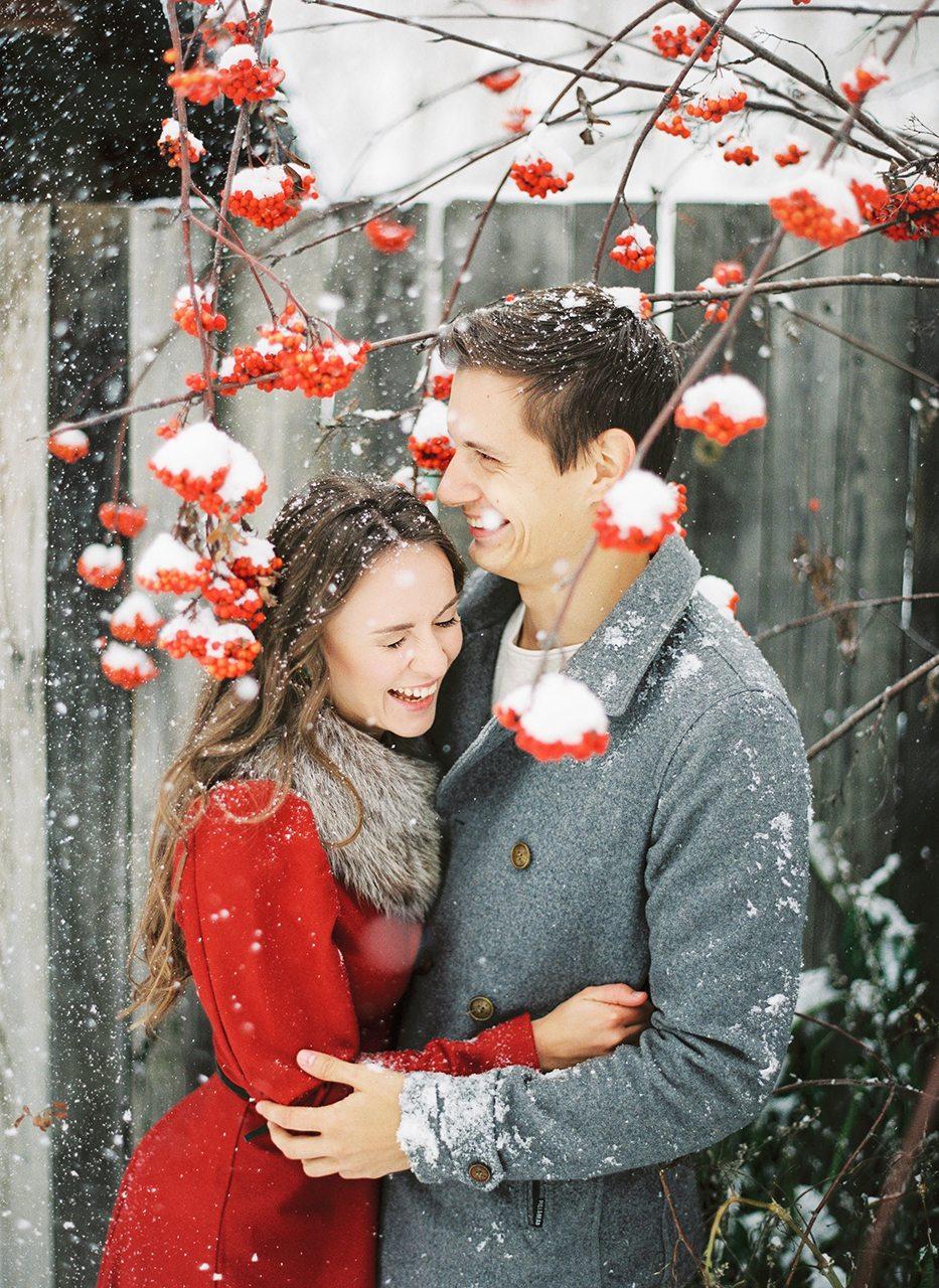 Снежная сказка: love-story Сергея и Александры