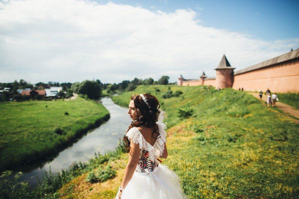 Русский стиль: свадьба Анны и Сергея