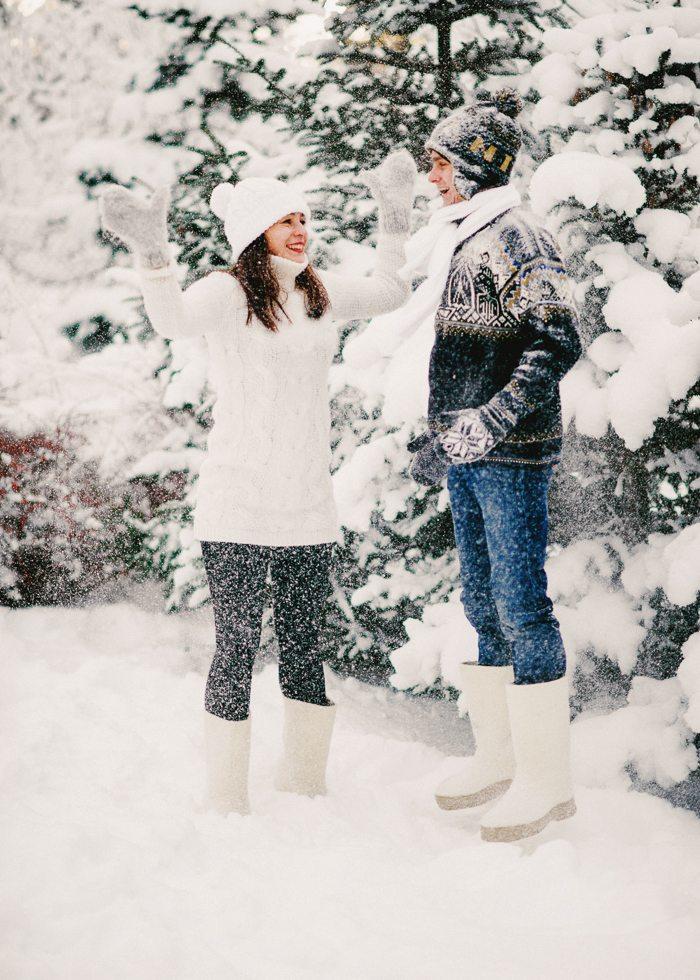 Первое зимнее счастье: годовщина Павла и Алины
