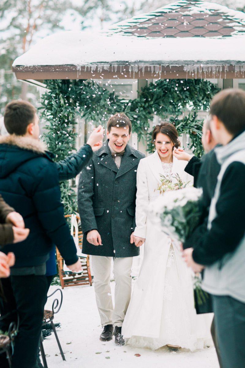Зимняя элегантность: свадьба Николая и Оксаны