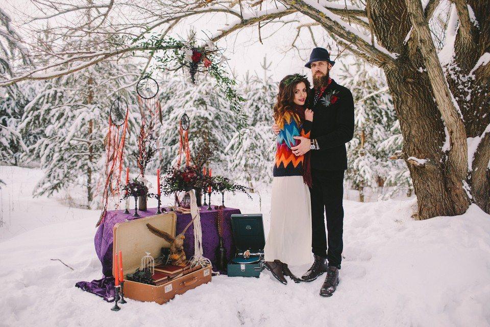 Зимний бохо: стилизованная съемка