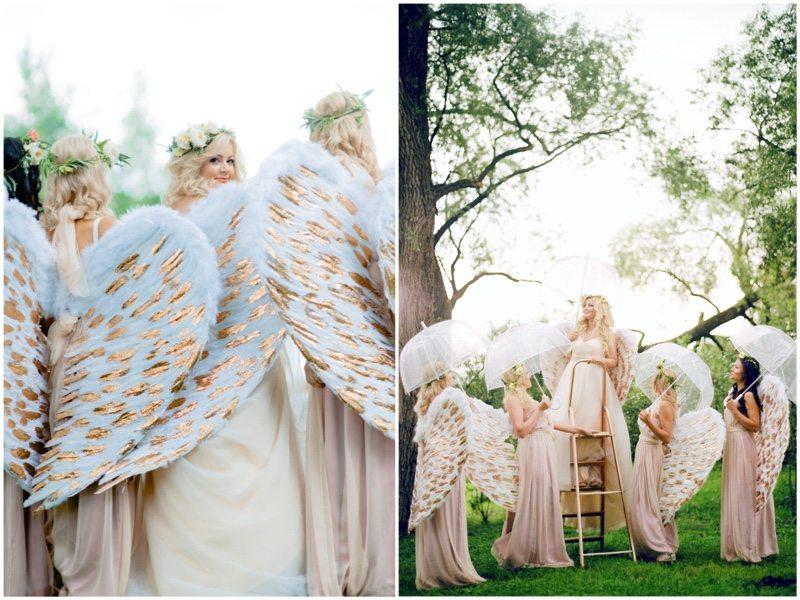 Когда ангелы спускаются с небес: свадьба Насти и Вовы
