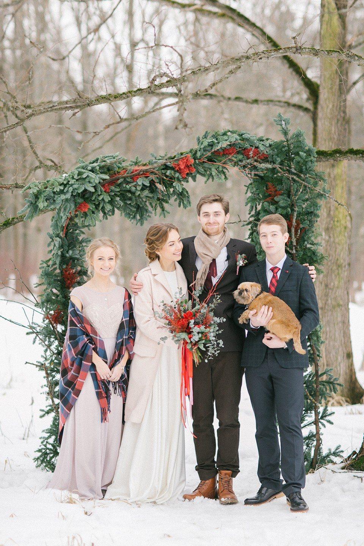 Домик в снежном лесу: свадьба Юрия и Анастасии
