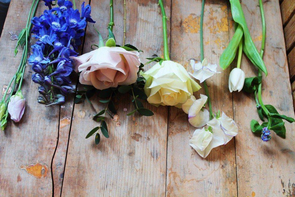 Цветочная кухня: голубая прохлада