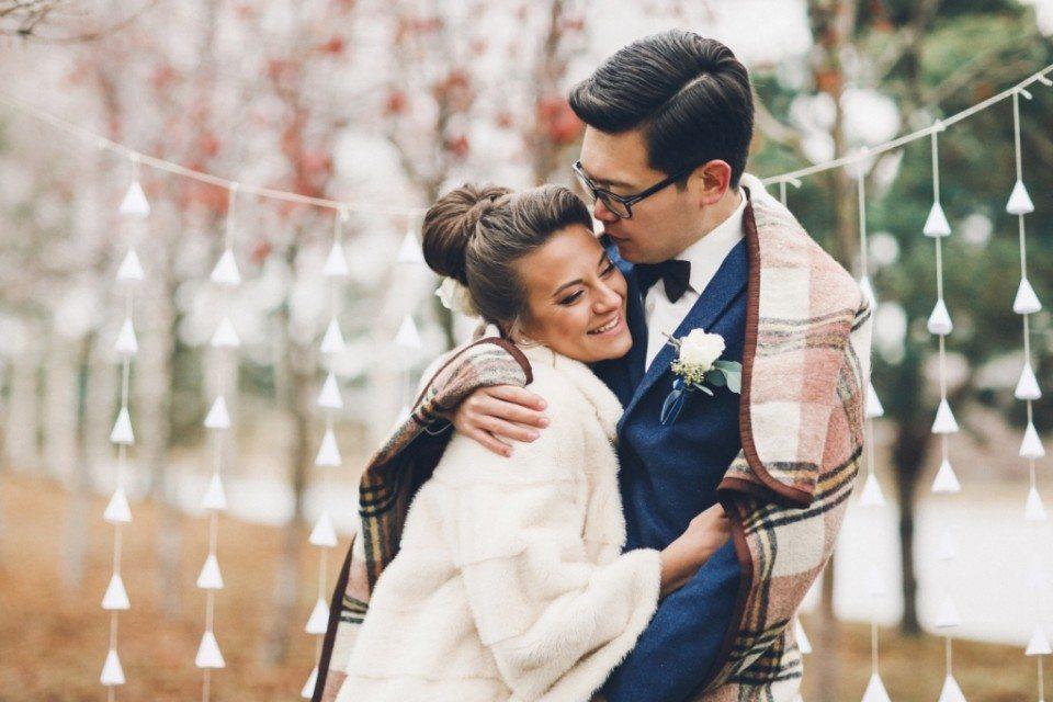 Осенний поцелуй: свадьба Ольги и Армана