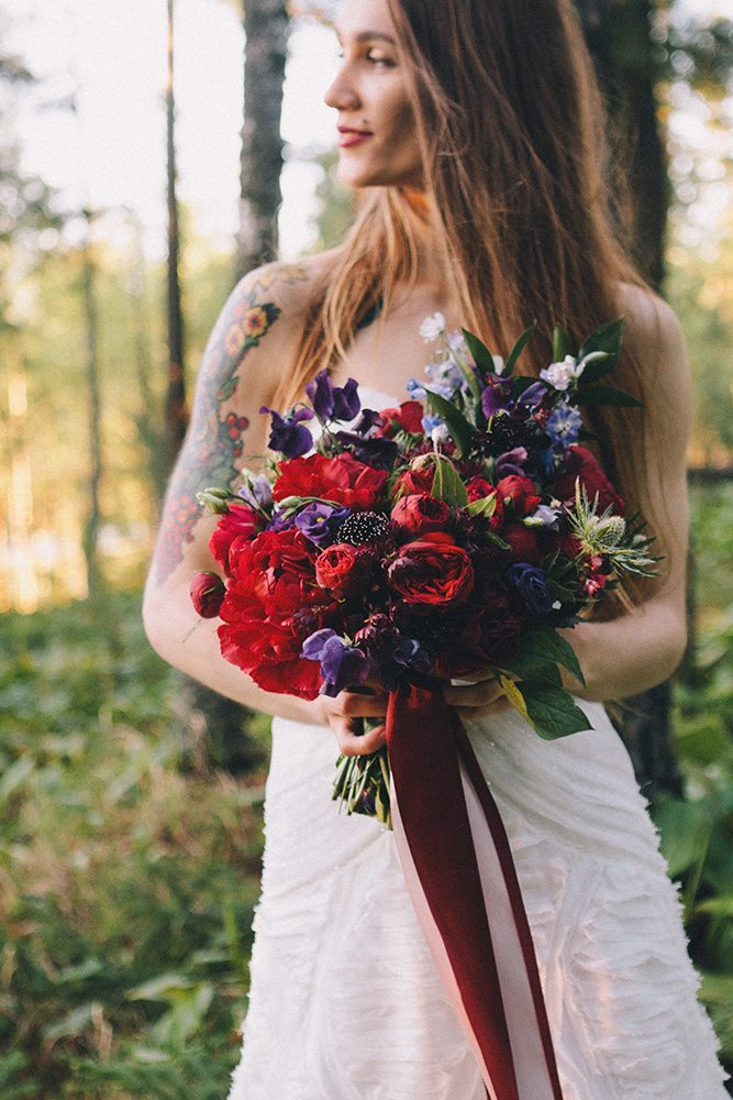 Woods wedding: стилизованная съемка