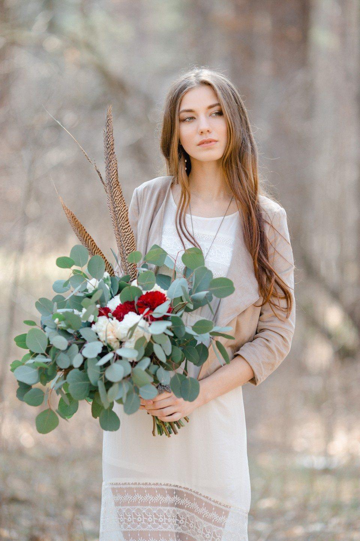 Весеннее бохо в лесу: свадебная съемка Андрея и Наташи