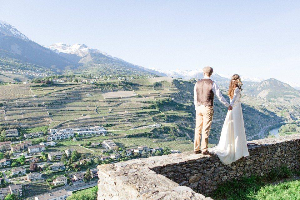 Необъятная свобода: стилизованная съемка в Швейцарии