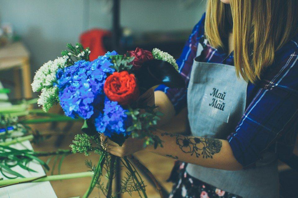 Цветочная кухня: букет для любимого отца