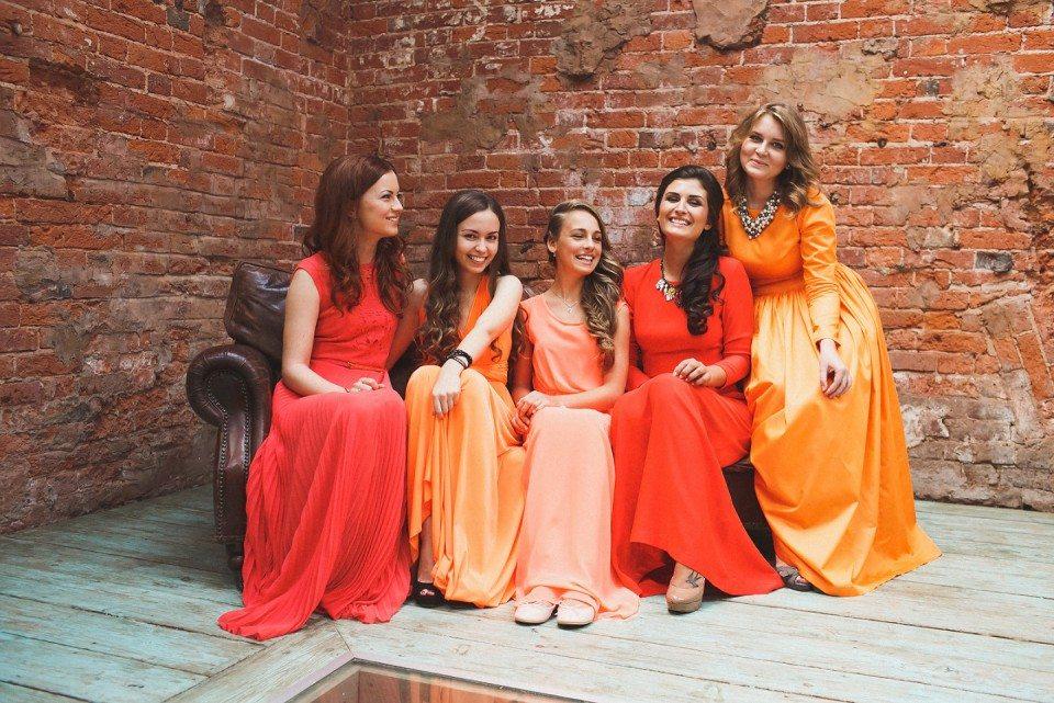 Оранжевое вдохновение: свадьба Екатерины и Александра