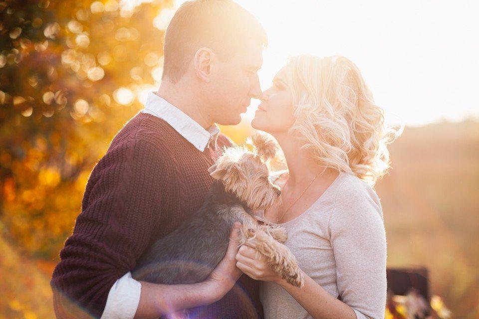 Яркие краски осени: love-story Жени и Олеси