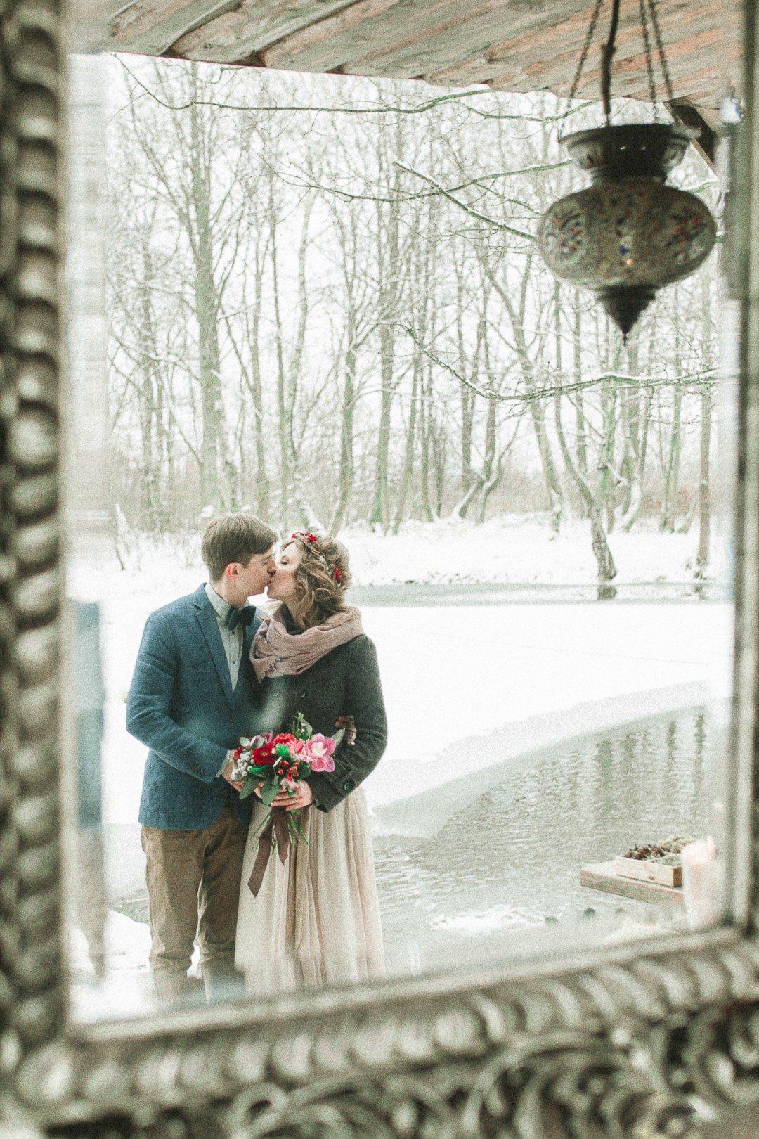 Зимний уют: свадьба Маши и Саши