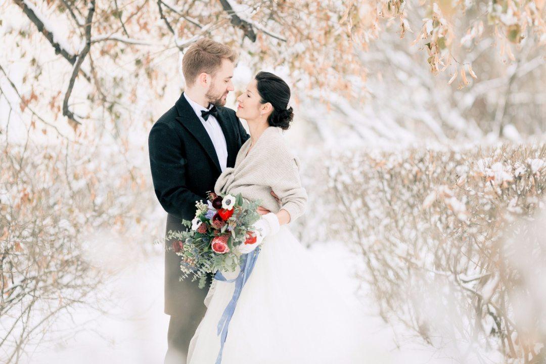 Магия зимы: свадьба Максима и Любы
