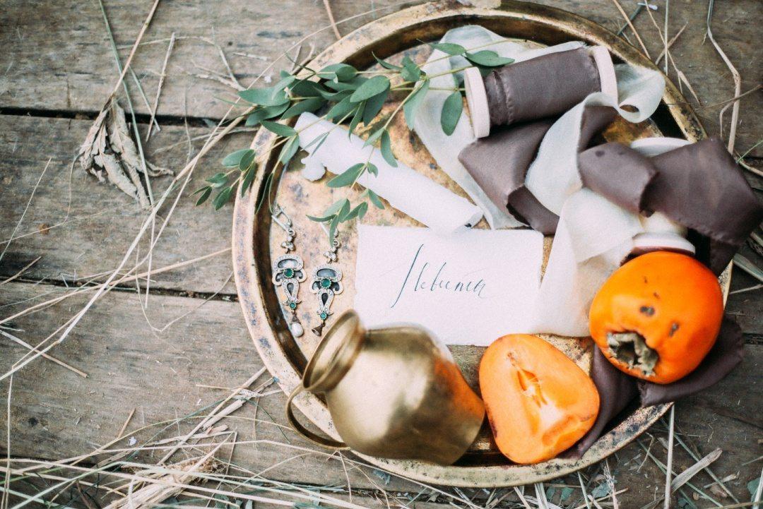 Осень рисует акварелью: стилизация утра невесты