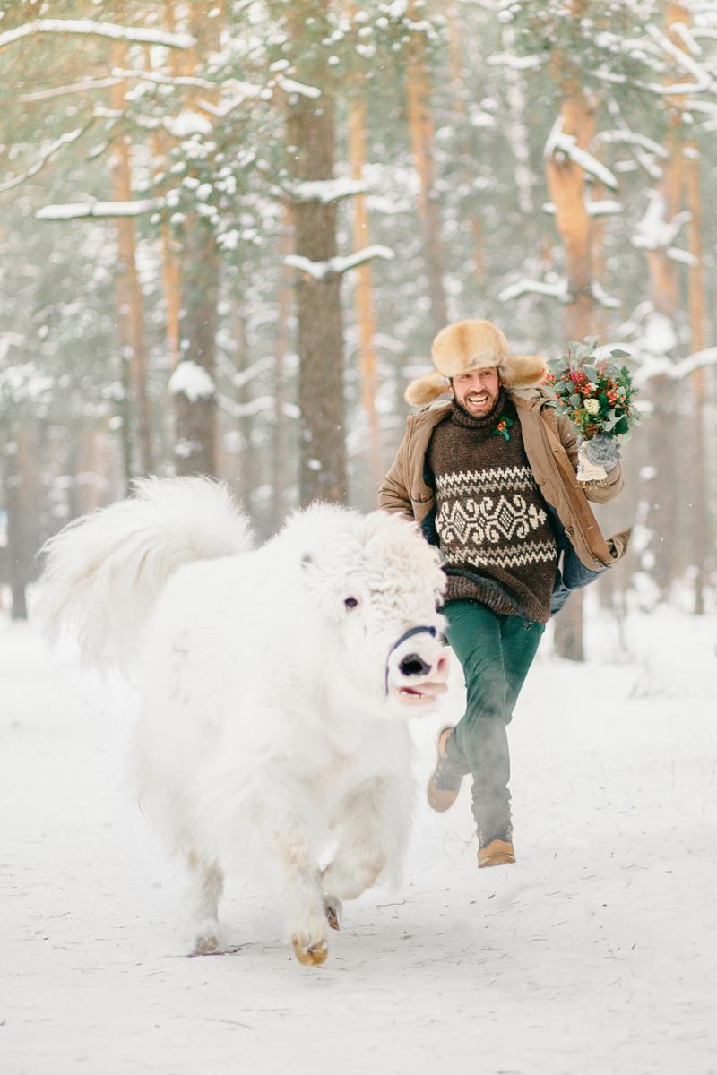 Необыкновенная зимняя прогулка: стилизованная фотосессия